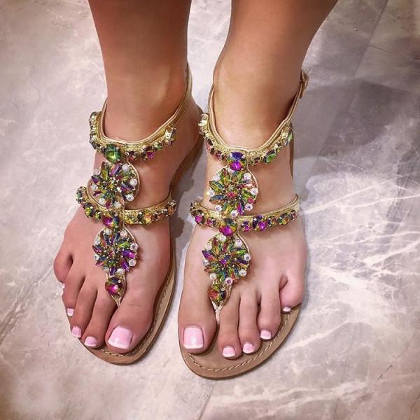 Milano Crystals Sandals Rainbow-134242-31