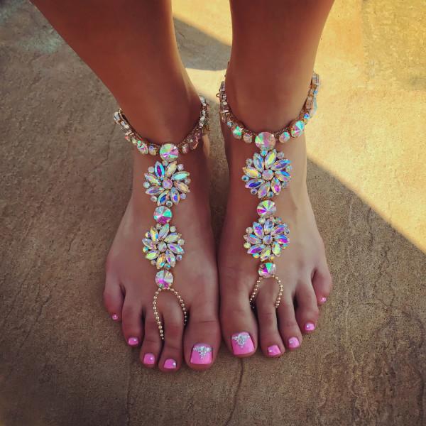 Kryštálové ozdoby na nohu