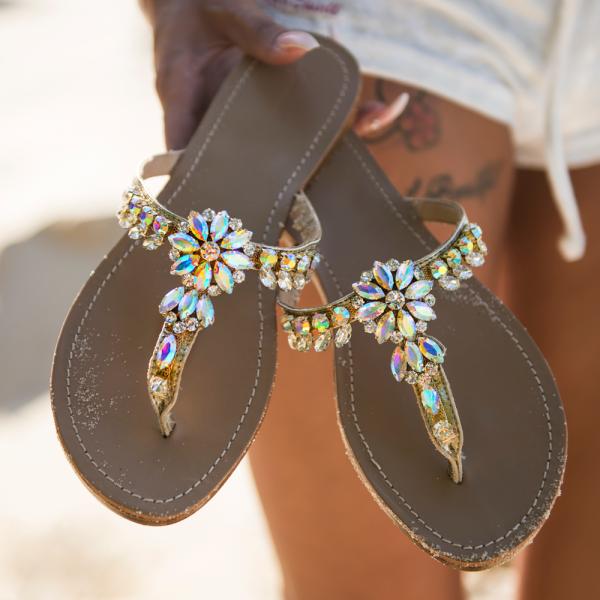 Italy crystal slipper-111508-20